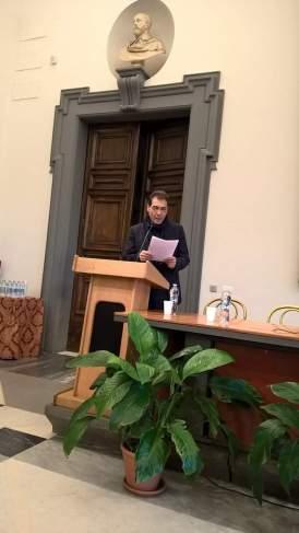 L'attore Enzo Rinella durante la premiazione nella II edizione del premio