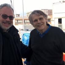 Insieme allo scrittore Daniel Pennac sulla nave Aquarius ormeggiata nel porto di Palermo