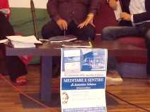 Con Biagio Balistreri, Antonella Calderaro, Andrea Pruitintazione di Meditare e sentire a Capo D'Orlando