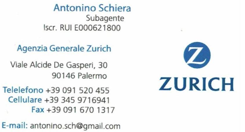 Nuova cattura biglietto da visita Zurich