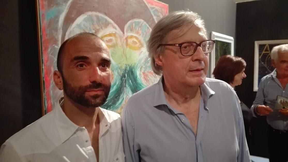 Pietro_Mistertta_pittore_con_Vittorio_Sgarbi