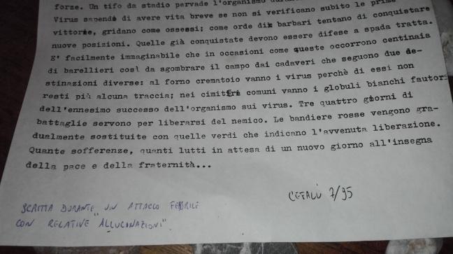 Dattiloscritto luglio 1995